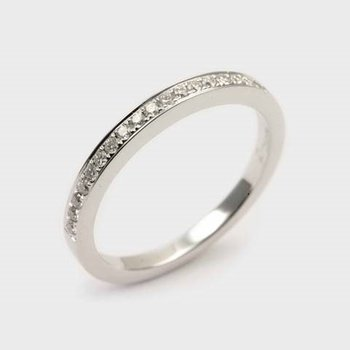 Diamond Straight Half Anniversary Band