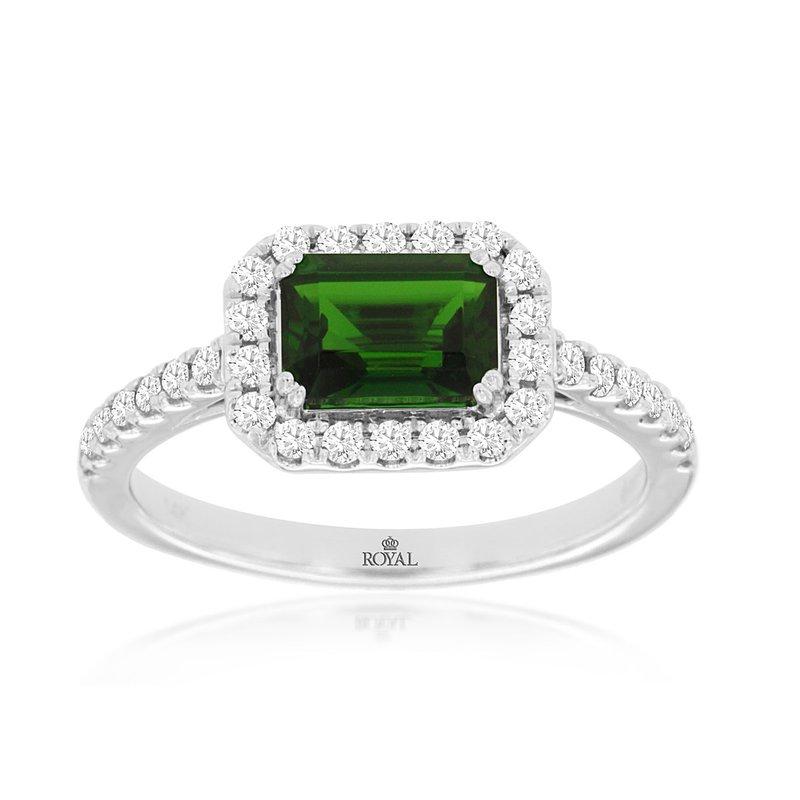 Murphy Pitard Signature Collection Russalite & Diamond Halo Ring