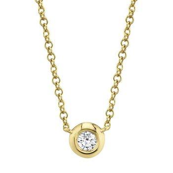 Diamond .05 Carats Bezel Necklace