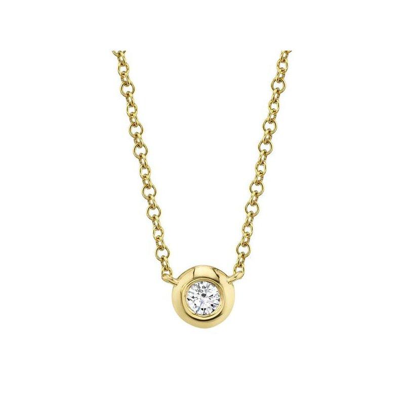 Shy Creation Diamond .05 Carats Bezel Necklace