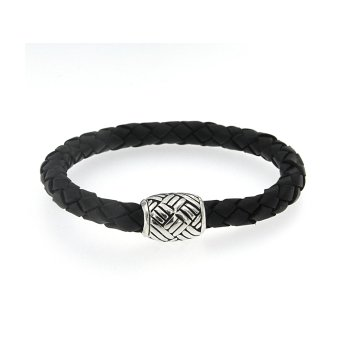 Sterling Leather Bracelet