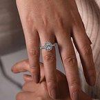 Gabriel & Co. New York Sutton Oval Halo Diamond Engagement Ring