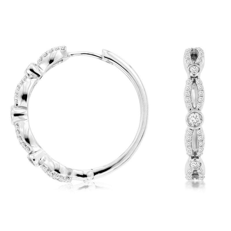 Murphy Pitard Signature Collection Medium Diamond Twist Hoops