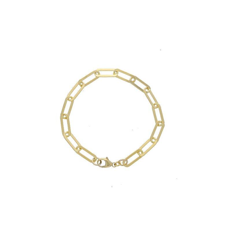 Dee Berkley Medium Gold-Filled Paperclip Bracelet