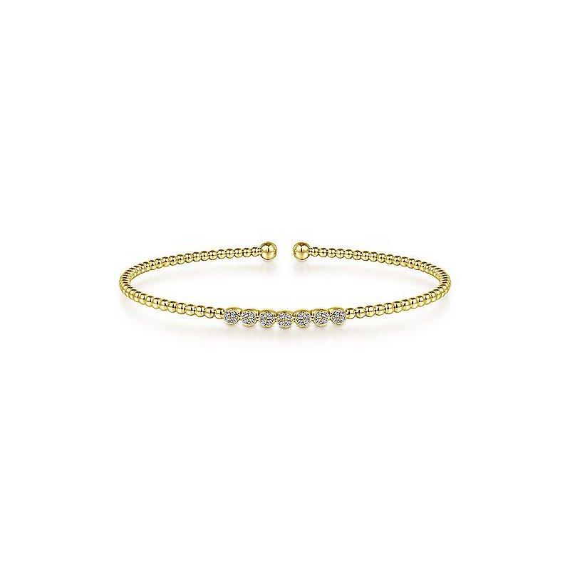Gabriel & Co. New York Diamond Flexible Cuff Bangle Bracelet
