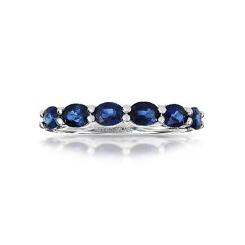 Blue Sapphire Stackable Band