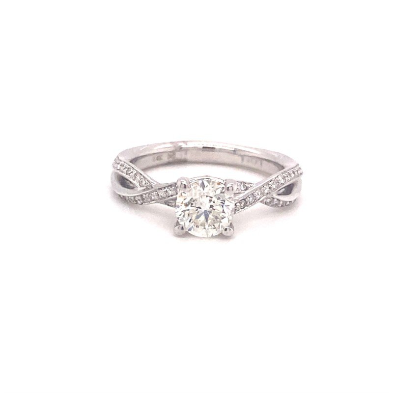Murphy Pitard Signature Collection Round Diamond Engagement Ring With Twist Band Design