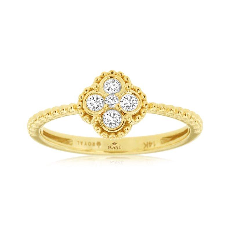 Murphy Pitard Signature Collection Diamond Cluster Milgrain Ring