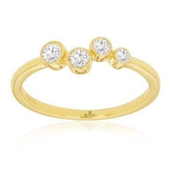 Diamond Bezel Fashion Ring
