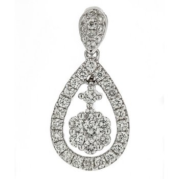 Floral Diamond Cluster Pendant