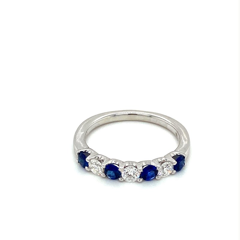 Murphy Pitard Signature Collection Sapphire & Diamond Stackable Band