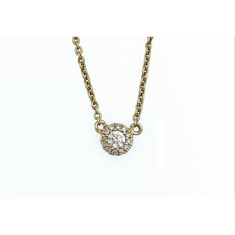 Murphy Pitard Signature Collection Halo Diamond Necklace