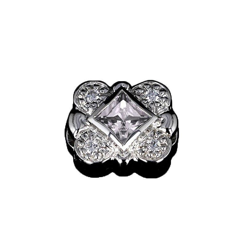 Goldman-Kolber GK Coloures Princess Cut White Topaz & Cubic Zirconia Slide