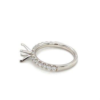 Round Diamond 1/2 Carat Semi-Mount Engagement Ring