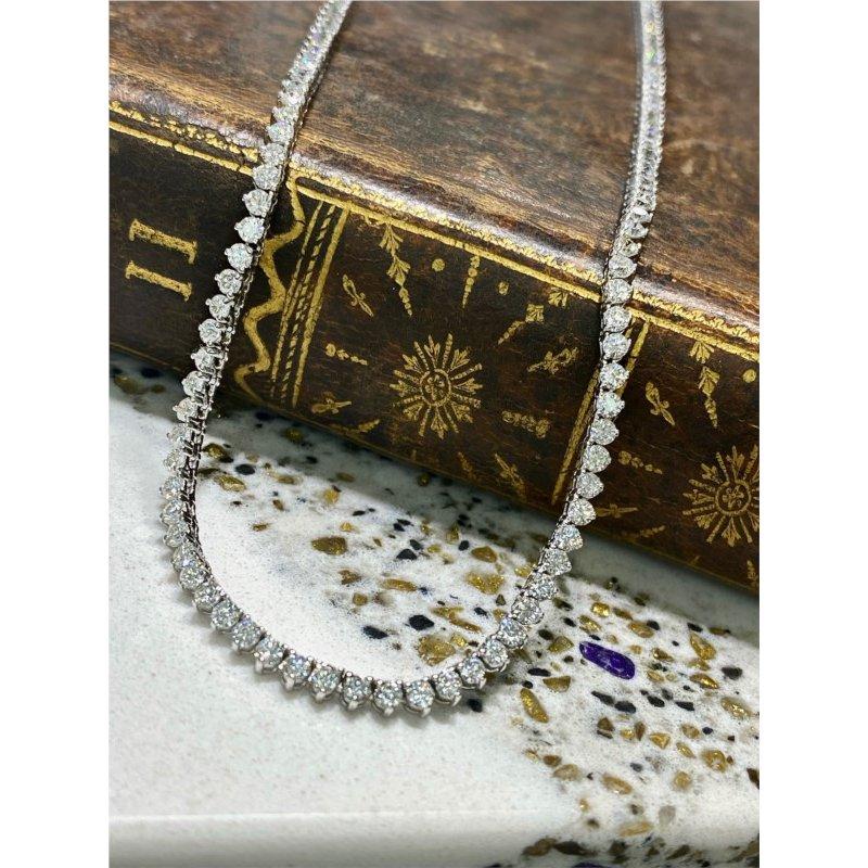 Murphy Pitard Signature Collection Diamond 6 1/3 Carats Tennis Necklace