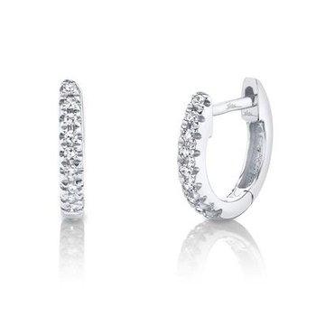 Kate Collection Mini .04 Carats Diamond Huggie Earrings