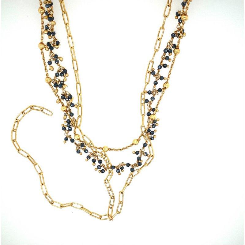 ela rae new york city Layered Mystic Black Necklace