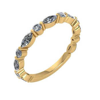 MPJ Exclusive Round & Marquise Diamond Anniversary Band