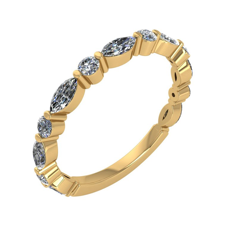 Murphy Pitard Signature Collection MPJ Exclusive Round & Marquise Diamond Anniversary Band