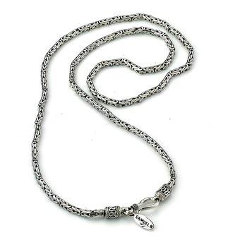 Silver 24 Inch Byzantine Chain