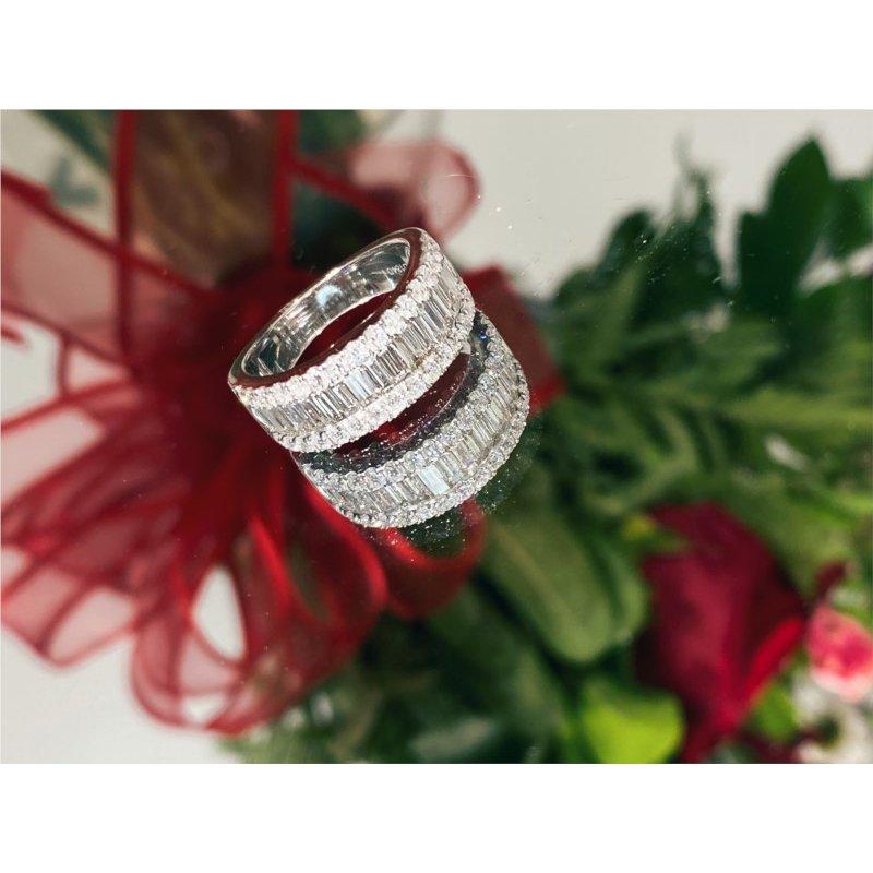 Murphy Pitard Signature Collection Diamond & Baguette Diamond Fashion Band