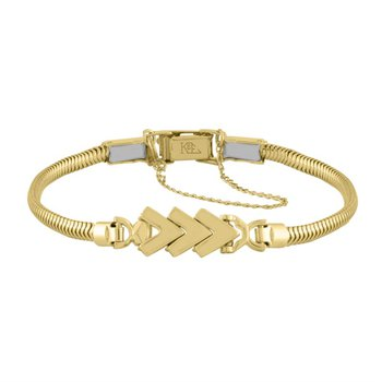 Yellow Gold Chevron Starter Tennis Bracelet