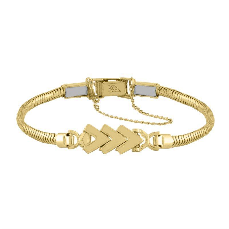 Kaspar and Esh Yellow Gold Chevron Starter Tennis Bracelet