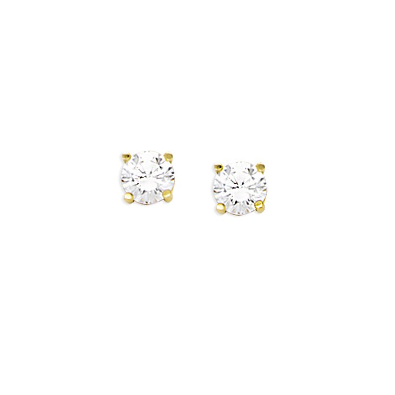 Murphy Pitard Signature Collection Cubic Zirconia 5 Millimeter Stud Earrings
