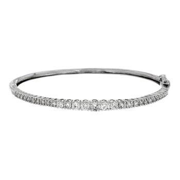 Diamond 2.0 Carats Hinged Bangle Bracelet