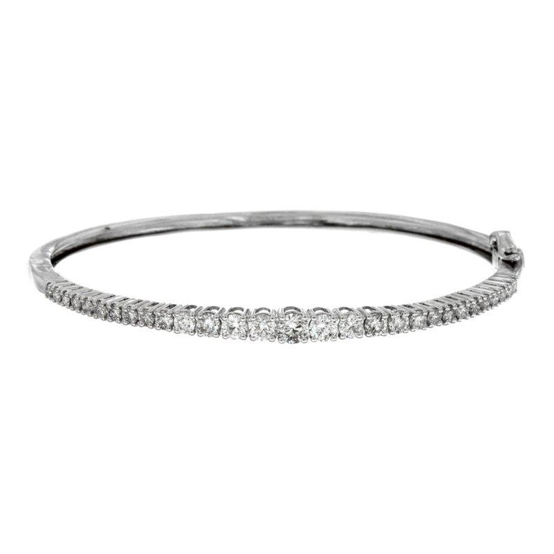 Murphy Pitard Signature Collection Diamond 2.0 Carats Hinged Bangle Bracelet