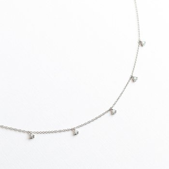 Round Diamond Drip Necklace