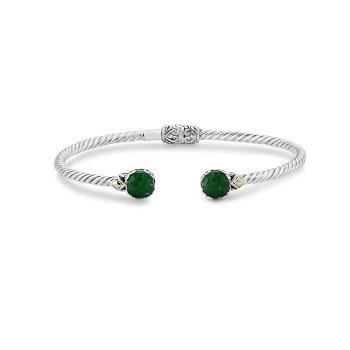 Emerald Twisted Bangle Bracelet
