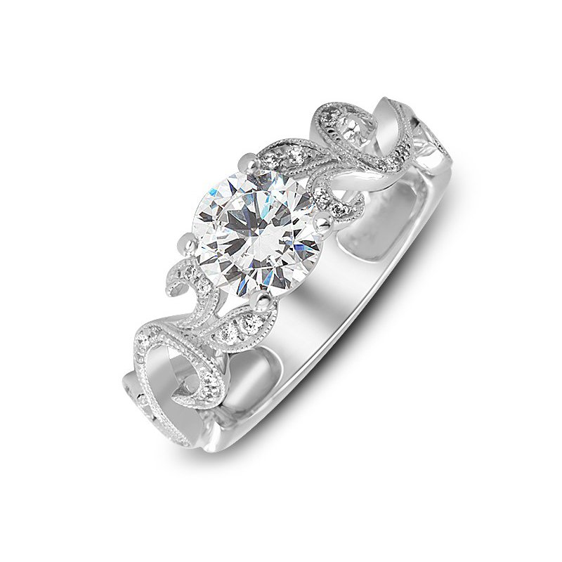 Diadori (Cheri Dori) Floral Inspired Diamond Engagement Ring