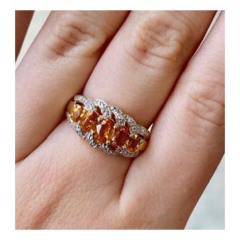 Citrine & Diamond Multi-Stone Fashion Ring