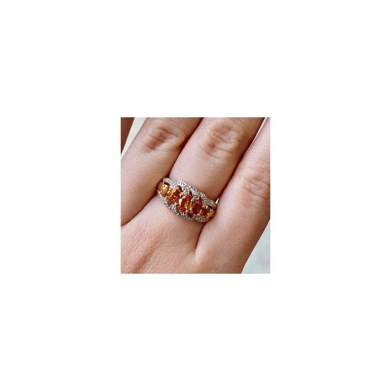 Murphy Pitard Estate Collection Citrine & Diamond Multi-Stone Fashion Ring