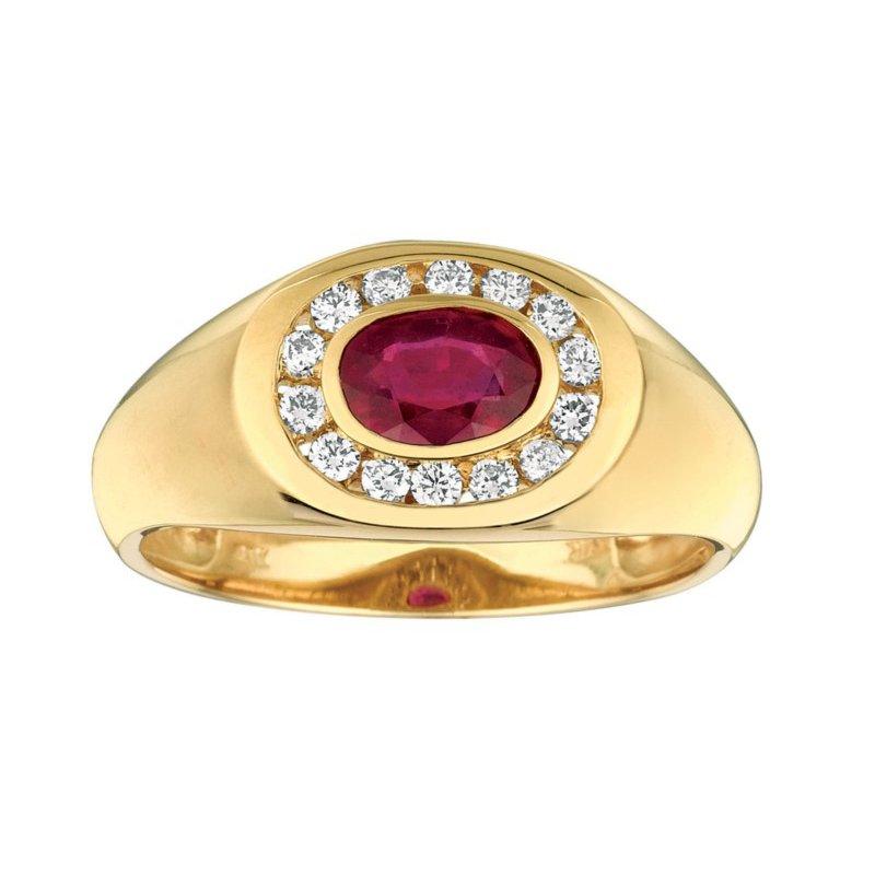 Murphy Pitard Signature Collection Ruby & Diamond Ring