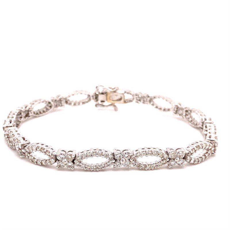 Murphy Pitard Signature Collection Diamond Open Fancy Link Tennis Bracelet