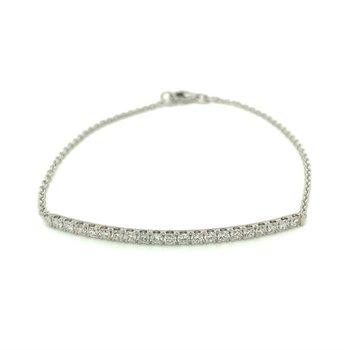 Diamond 3/4 Carats Bar Bracelet