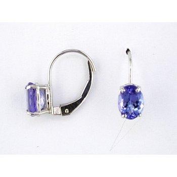 Oval Tanzanite Drop Earrings