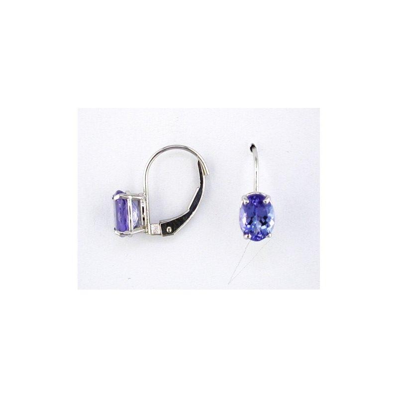 Murphy Pitard Signature Collection Oval Tanzanite Drop Earrings