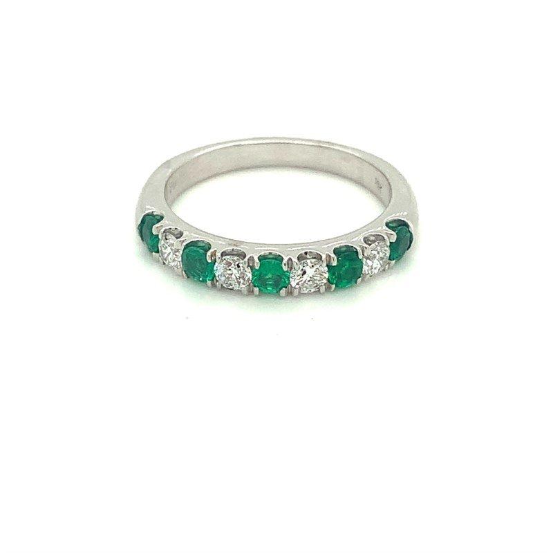 Murphy Pitard Signature Collection Emerald & Diamond Stackable Band
