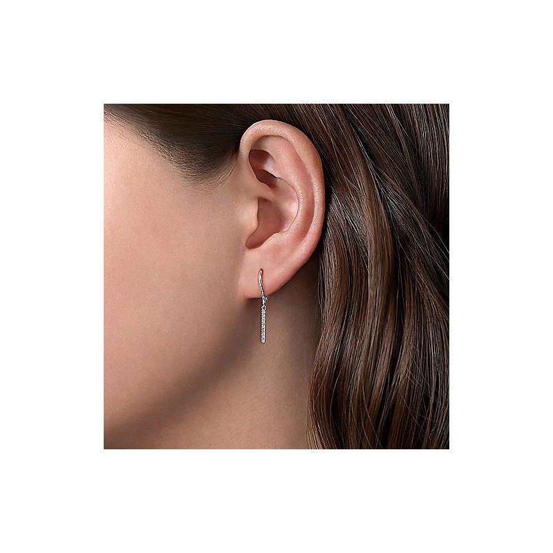 Gabriel & Co. New York Diamond Bar Drop Earrings