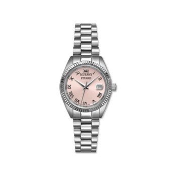 Murphy Pitard 30 Millimeter Stainless Steel Watch with Pink Mother of Pearl Dial