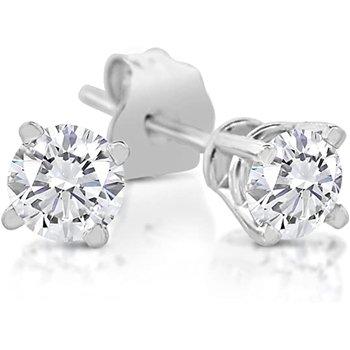 Diamond 1/6 Carats Traditional Stud Earrings