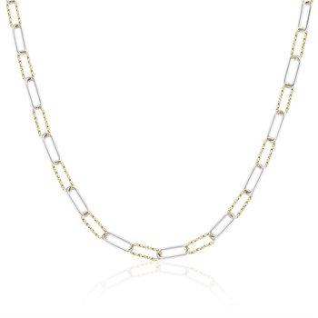 Sparkle Silver and Yellow Gold Vermeil Chain