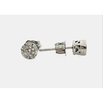Diamond Miracle Plate Stud Earrings