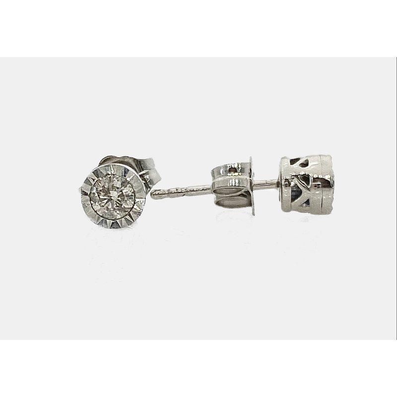 Murphy Pitard Signature Collection Diamond Miracle Plate Stud Earrings