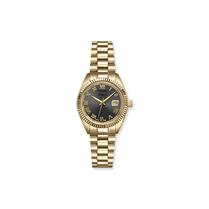 Murphy Pitard Signature Collection Murphy Pitard 30 Millimeter Stainless Steel Watch with Grey Mother of Pearl Dial