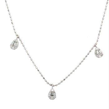 Diamond Fringe Adjustable Necklace