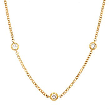 Diamond By The Yard Station Necklace - .91 Carats